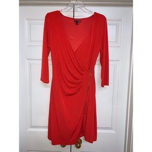 Express | Red Zipper Dress